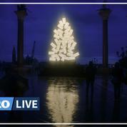À Venise, la place Saint-Marc et le Grand Canal s'illuminent pour Noël