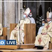 Mgr de Germay a officiellement pris la succession du cardinal Barbarin comme archevêque de Lyon