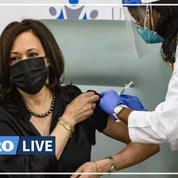 Covid-19: la future vice-présidente américaine Kamala Harris vaccinée en public