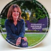 Régionales: candidate UDI en Normandie, Nathalie Goulet invente le camembert de campagne