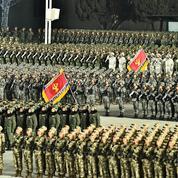 Un missile balistique lancé d'un sous-marin lors de la parade militaire nord-coréenne