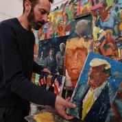Un artiste israélien peint à l'infini «la figure tragique» de Donald Trump
