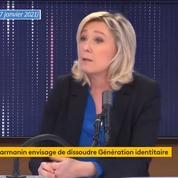 Génération identitaire : Marine Le Pen défend la liberté d'expression