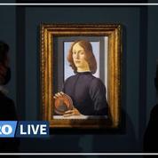 Avec ce portrait vendu 92,2 millions de dollars, Botticelli devient le deuxième maître ancien le plus cher derrière Vinci