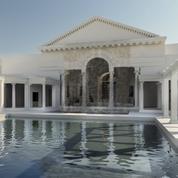 Une somptueuse salle de banquet, triclinium aquatique, découverte dans la Villa d'Hadrien à Tivoli