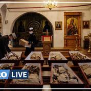 Obsèques en Russie de grognards napoléoniens et de soldats tsaristes
