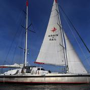 Arrivée à Nantes du cargo à voiles «Grain de Sail» après sa première transatlantique