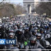 Les motards ont manifesté partout en France pour le droit à circuler entre les files de voitures