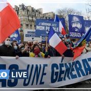 Génération identitaire a manifesté à Paris contre son éventuelle dissolution