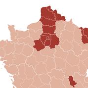 Covid-19 : ces 20 départements sous surveillance en métropole