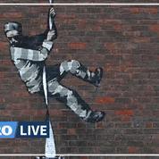 Banksy revendique dans une vidéo la paternité du graffiti sur les murs d'une prison anglaise de Reading