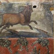 À Pompéi, la fresque égyptienne de la maison des Céii reprend des couleurs