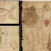 Une ceinture couverte d'invocations de saints et de formules magiques pour protéger les accouchements