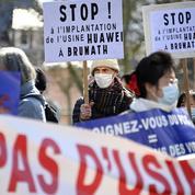 Strasbourg: 150 personnes manifestent contre l'implantation de Huawei en Alsace
