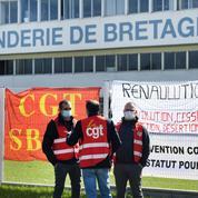 Rassemblement de soutien à la Fonderie de Bretagne mise en vente par Renault