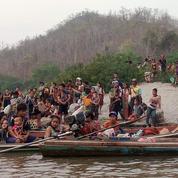 En Birmanie, plus de 12.000 déplacés ont fui les raids aériens de l'armée ces derniers jours