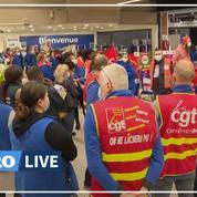 Chez Carrefour, les salariés mobilisés contre un «confinement social»