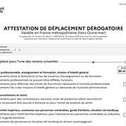 Covid-19 : voici l'attestation de déplacement qui s'applique désormais à toute la France