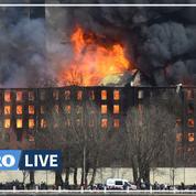 Gigantesque incendie dans une fabrique historique de Saint-Pétersbourg