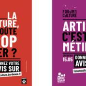 «Artiste, c'est un métier ?» : la mairie de Bordeaux sur la sellette avec ses affiches jugées douteuses