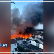 Un important incendie dans un entrepôt à Aubervilliers perturbe les transports en Île-de-France