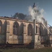 L'église de Romilly-la-Puthenaye dans l'Eure ravagée par un incendie