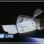 La capsule Crew Dragon de Space X s'est amarrée à l'ISS