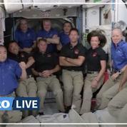 «C'est vraiment incroyable d'être ici» : revivez l'arrivée de Thomas Pesquet et ses coéquipiers à bord de l'ISS