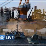 «On ne veut pas d'éolien ici» : un chantier encerclé par les pêcheurs en baie de Saint-Brieuc