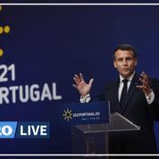 Policier tué à Avignon : «La violence enfle dans notre société», reconnaît Emmanuel Macron