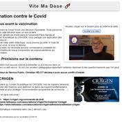 Un site antivaccin usurpe l'adresse de ViteMaDose
