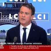 Israël-Palestine : pour Valls, «une partie de la gauche» se sert du conflit pour «justifier l'antisémitisme»