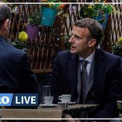 En terrasse avec Jean Castex, Emmanuel Macron salue la «liberté retrouvée» et appelle à la «prudence»