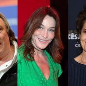 Depardieu, Ardant, Bruni sur scène pour soutenir les jeunes artistes