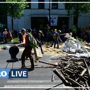 Environ 200 paysans au siège de Pôle Emploi pour défendre une «PAC pour l'emploi»