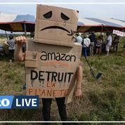 Mobilisation contre l'implantation d'un entrepôt Amazon dans le Gard