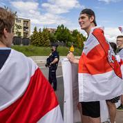 Des Biélorusses en exil manifestent contre la fermeture de la frontière avec la Pologne