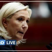 Marine Le Pen accuse Emmanuel Macron d'être en «sécession avec les Français»