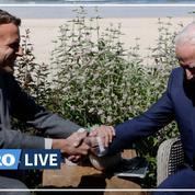 Biden et Macron affichent leur entente au G7