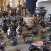 Des centaines d'antiquités saisies par la police italienne chez un collectionneur belge