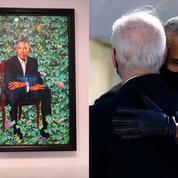 Privé de cérémonie par Trump, Obama reçu à la Maison-Blanche pour dévoiler son portrait officiel
