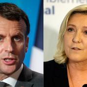Présidentielle : l'écart se creuse entre Emmanuel Macron et Marine Le Pen selon un sondage