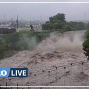 Japon : 2 morts et 20 personnes disparues après d'impressionnants glissements de terrain
