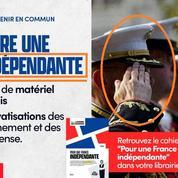La France Insoumise illustre son programme régalien avec un «Marines» américain au lieu d'un militaire français