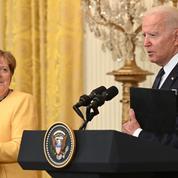 Entre Merkel et Biden, démonstrations d'amitié mais désaccords persistants