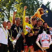 Tour de France: près de 620.000 euros pour l'équipe de Pogacar