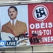 Macron en Hitler sur des affiches : enquête ouverte pour «injure publique»
