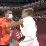 JO: une bousculade, des gifles ... Le rituel étonnant d'une judokate allemande avant son combat