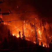 Un incendie «incontrôlable» menace des habitations près d'Athènes, 74 pompiers mobilisés