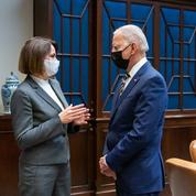 Joe Biden a reçu l'opposante bélarusse Svetlana Tikhanovskaïa